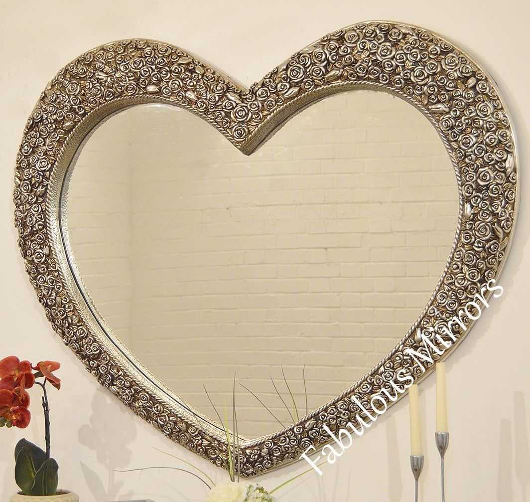 X Large Rose Heart Stunning Ornate Elegant Mirror Save S New